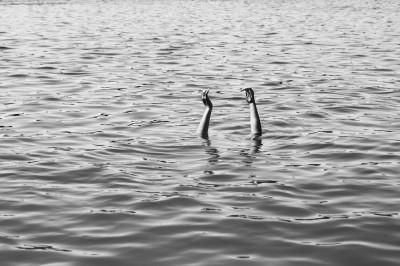 Handen in water
